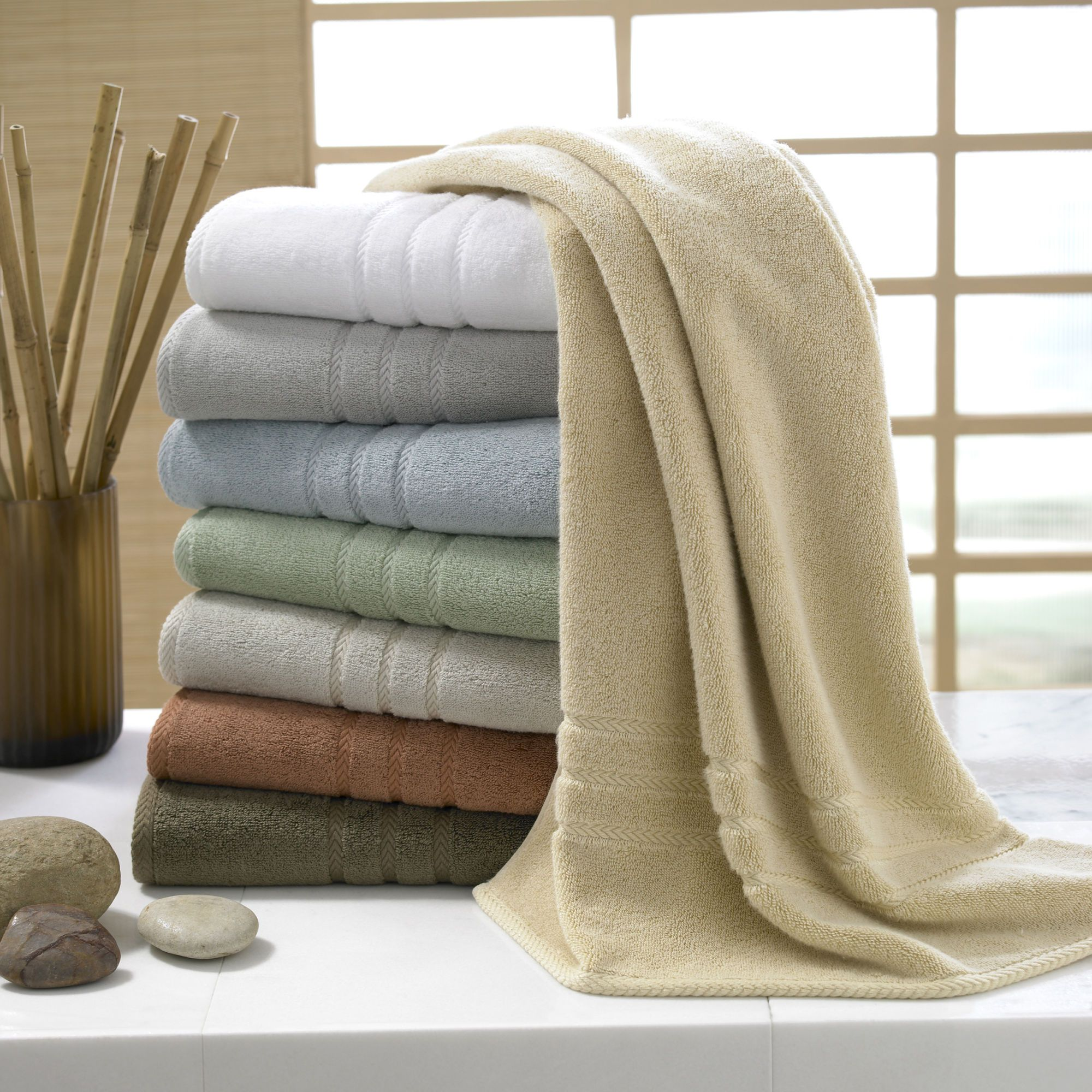 Kassatex Eco Luxe Bath Sheets 40 Rayon Made From Bamboo 60