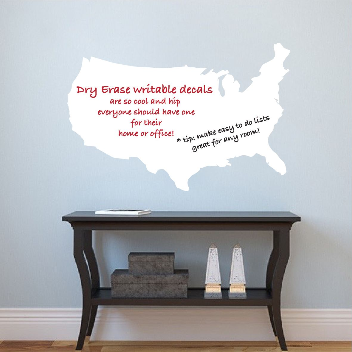 United States Map Dry Erase Wall Decal Dry Erase Wall Decals - Dry-erase-us-wall-map