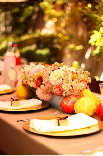 Lovely fall party table setting #EPiC #events #partyplanning