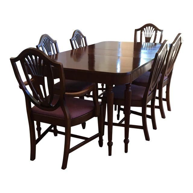 Image Of Sheraton Mahogany Dining Table And Chairs Dining Table