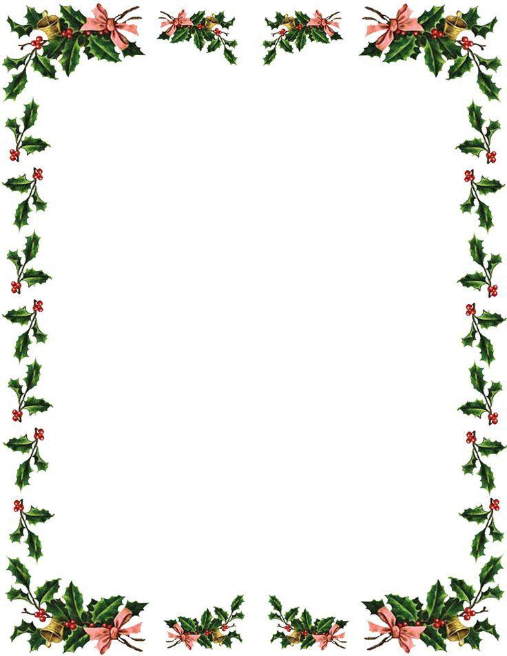 Holly Border Christmas Pinterest Free Christmas Borders Christmas Border Christmas Boarders
