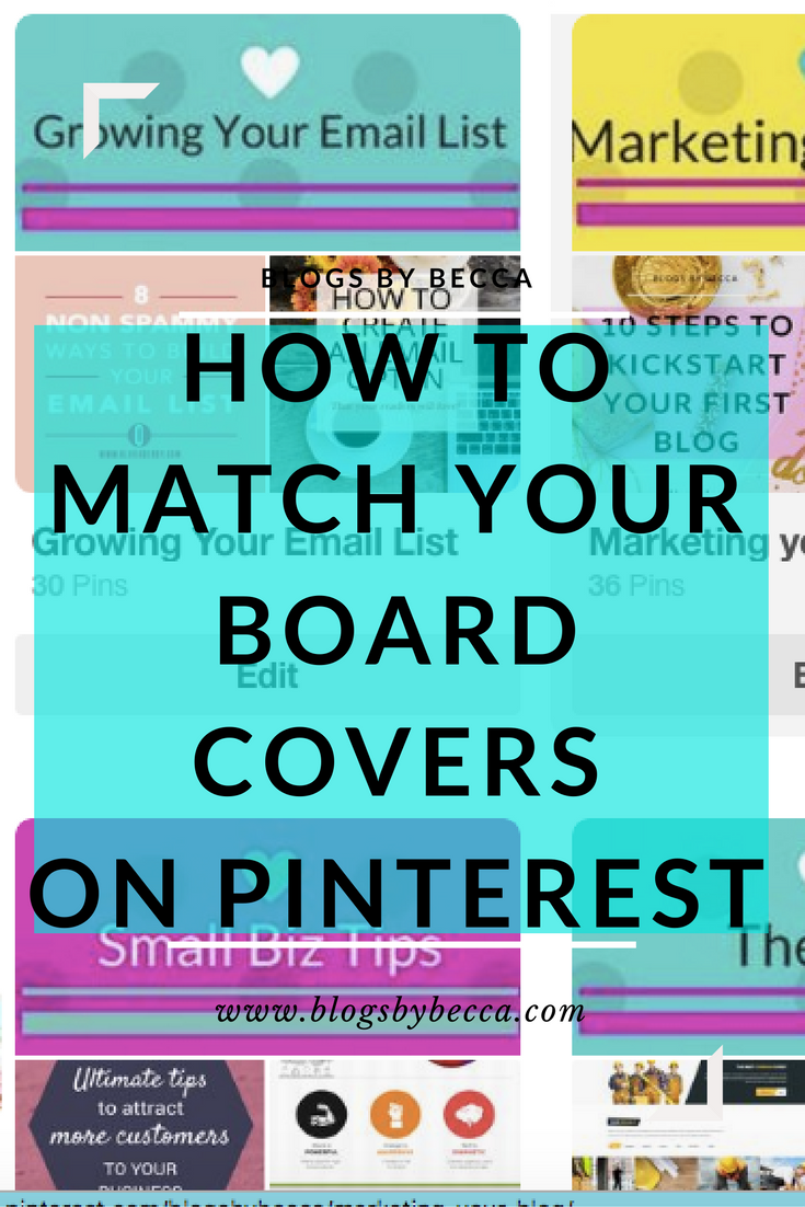 How to Match Your Board Covers on Pinterest Perfectly. Amazing social media tips and tricks for your blog.