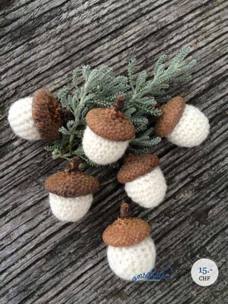 Gehäkelte Eicheln Crochetknit Pinterest Crochet Knit Crochet