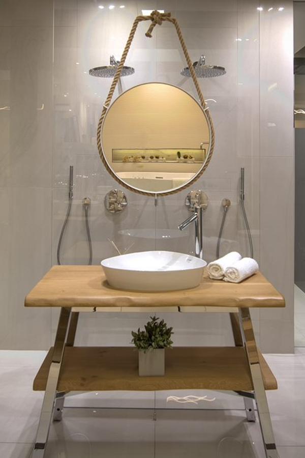 Drewniane Dodatki W łazience Czynią Ją Cieplejszą I Bardziej