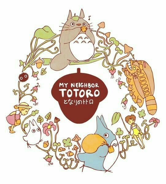 My Neighbor Totoro, text; Studio Ghibli Totoro, My