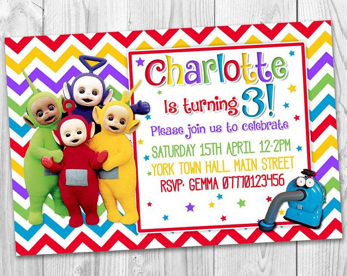 Personalised Party Invitations Birthday Kids Printable 3rd Parties Boy