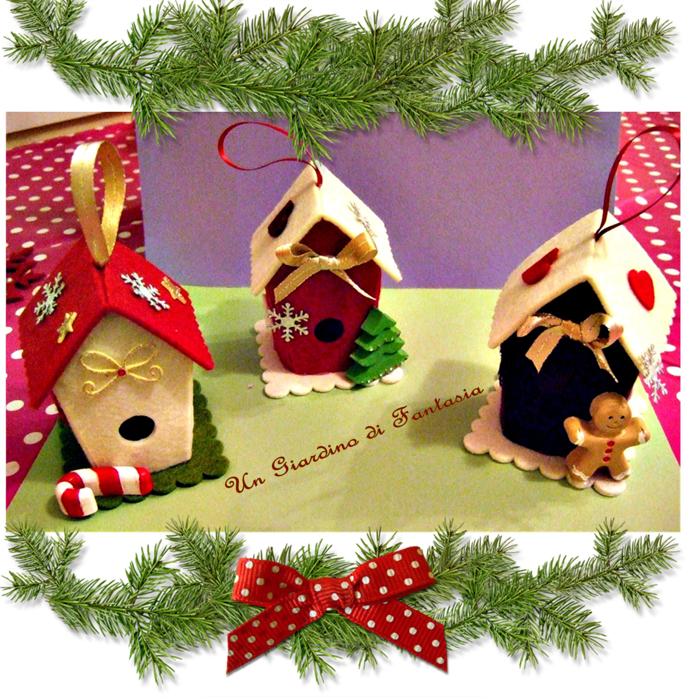 Casette di natale in feltro ornamenti di natale fai da for Ornamenti casa