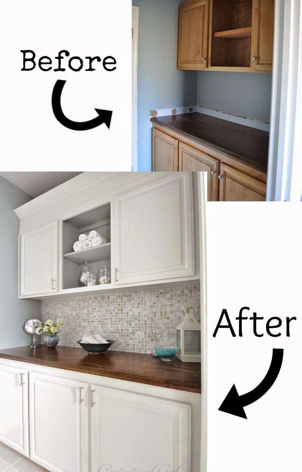 7 Best DIY Bathroom Vanity Makeovers | Pinterest | Diy bathroom ...
