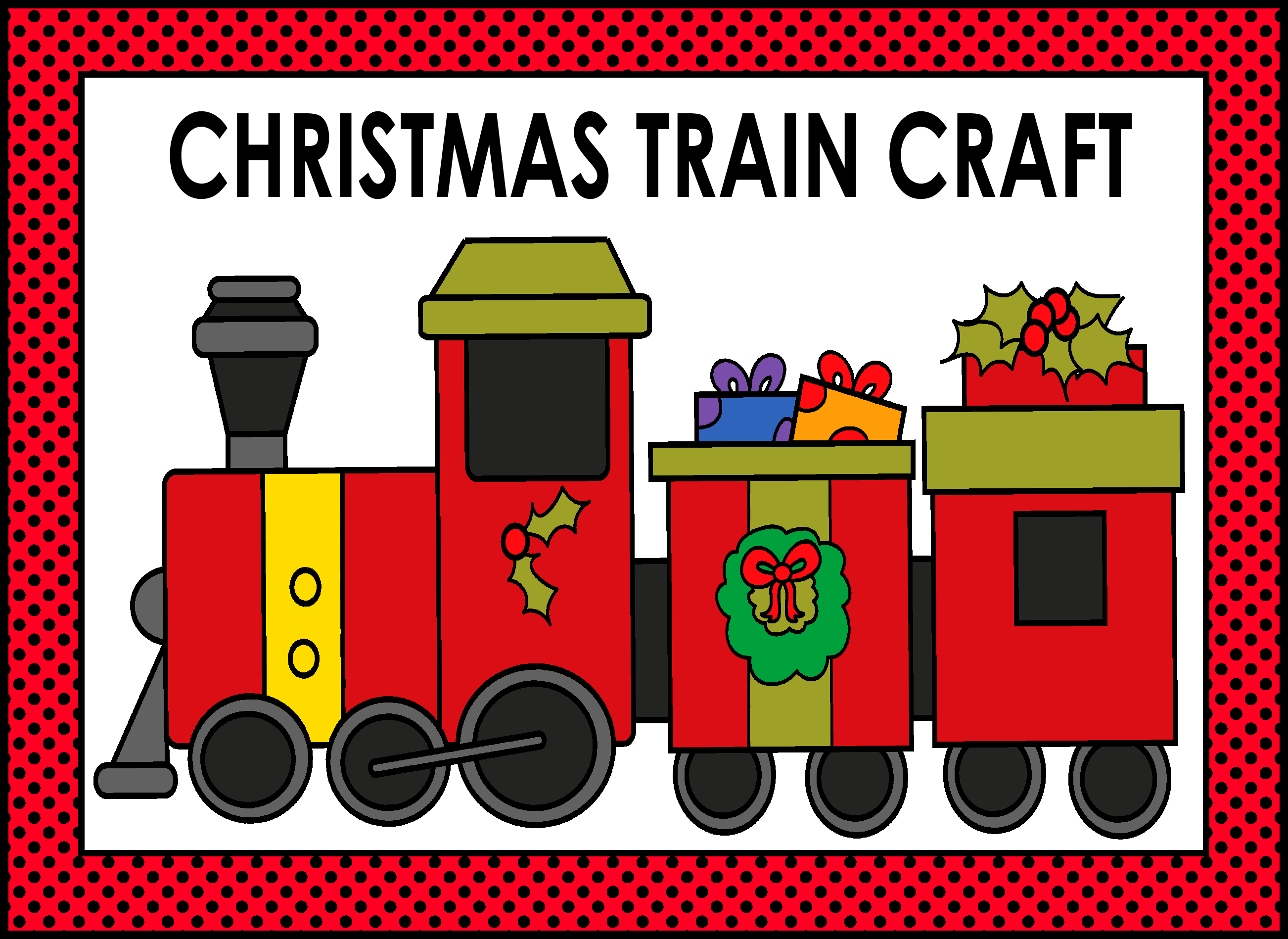 christmas train craft children can color cut and assemble the christmas train craft  [ 2604 x 1898 Pixel ]