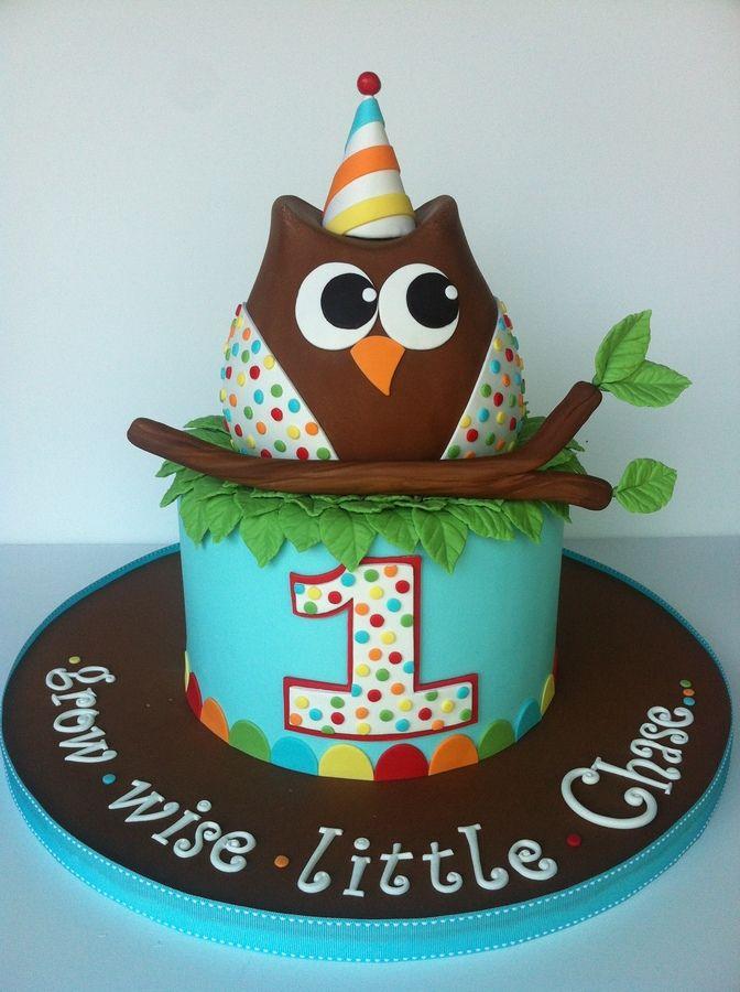 Super Grow Wise Owl Cake Birthday Boys First Birthday Cake Personalised Birthday Cards Akebfashionlily Jamesorg
