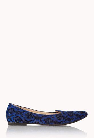 Luxe Velveteen Waverly Print Loafers | FOREVER 21 - 2059313900