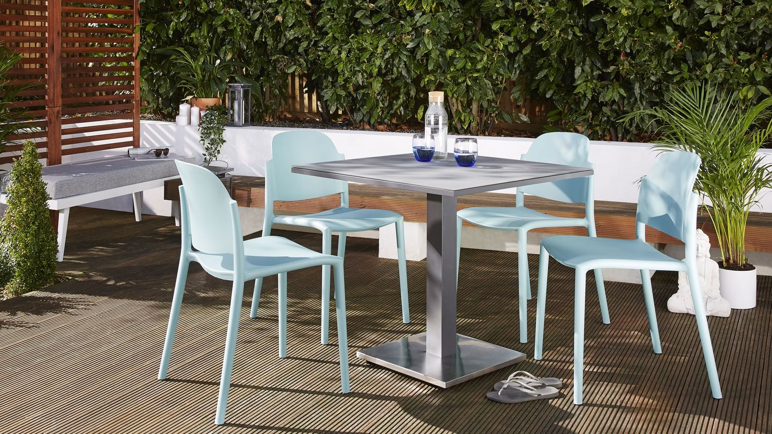 Palermo Grey Pedestal Table And Lola Small Dining Set Garden Dining Set Garden Chairs Small Dining Sets
