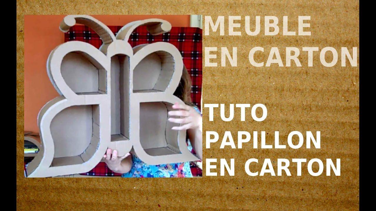 Meuble En Carton Tutoriel Le Papillon Patron De Meuble En Carton Gra Meuble En Carton Carton Papillon