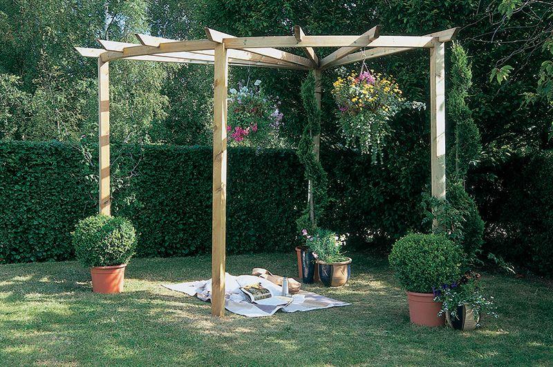 Charming Radial Pergola 90°   Forest Garden