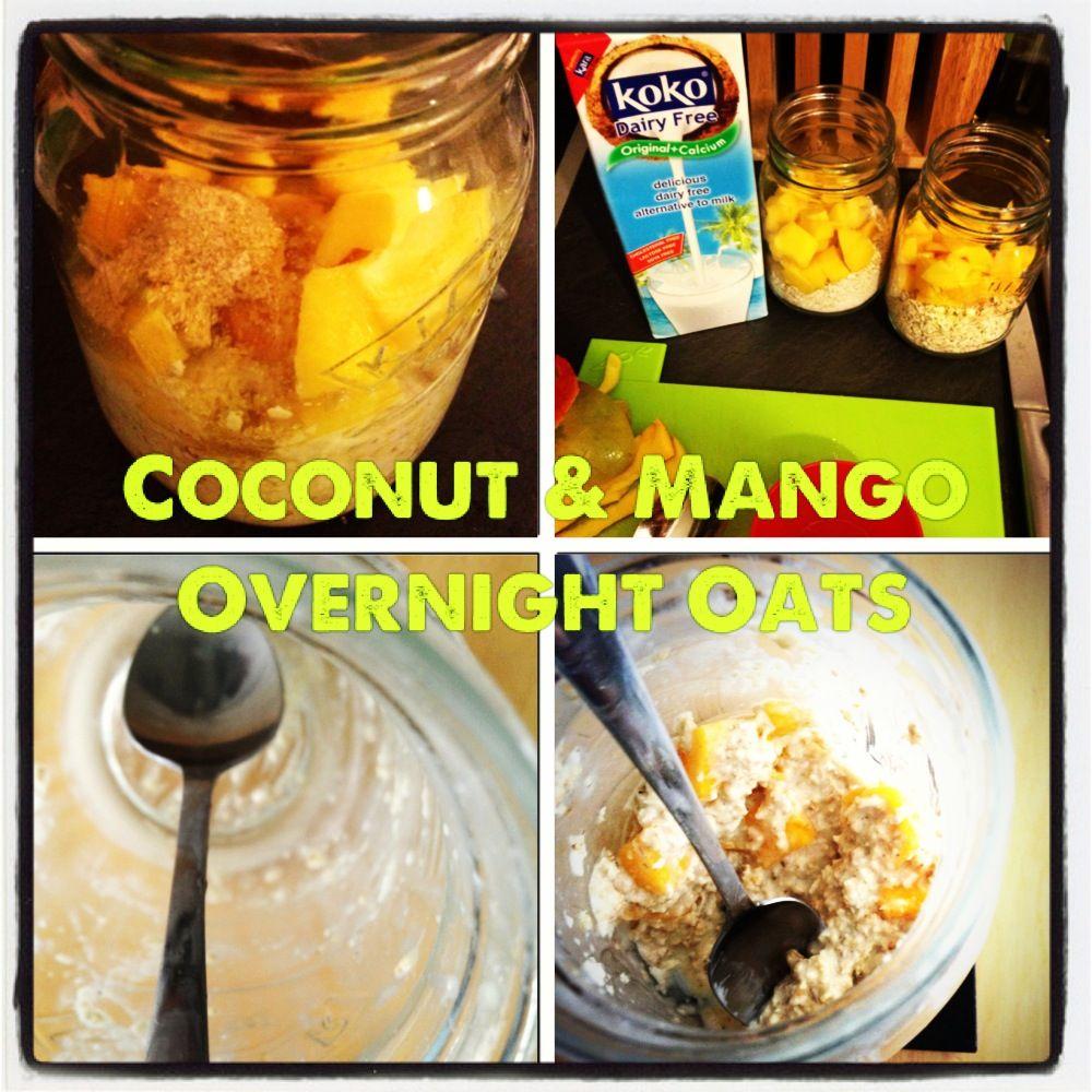 Coconut Mango Overnight Oatmeal Recipe | Overnight oats ...