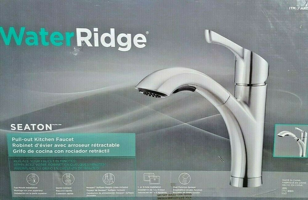 Water Ridge Seaton Brushed Nickel Pull Out Kitchen Faucet