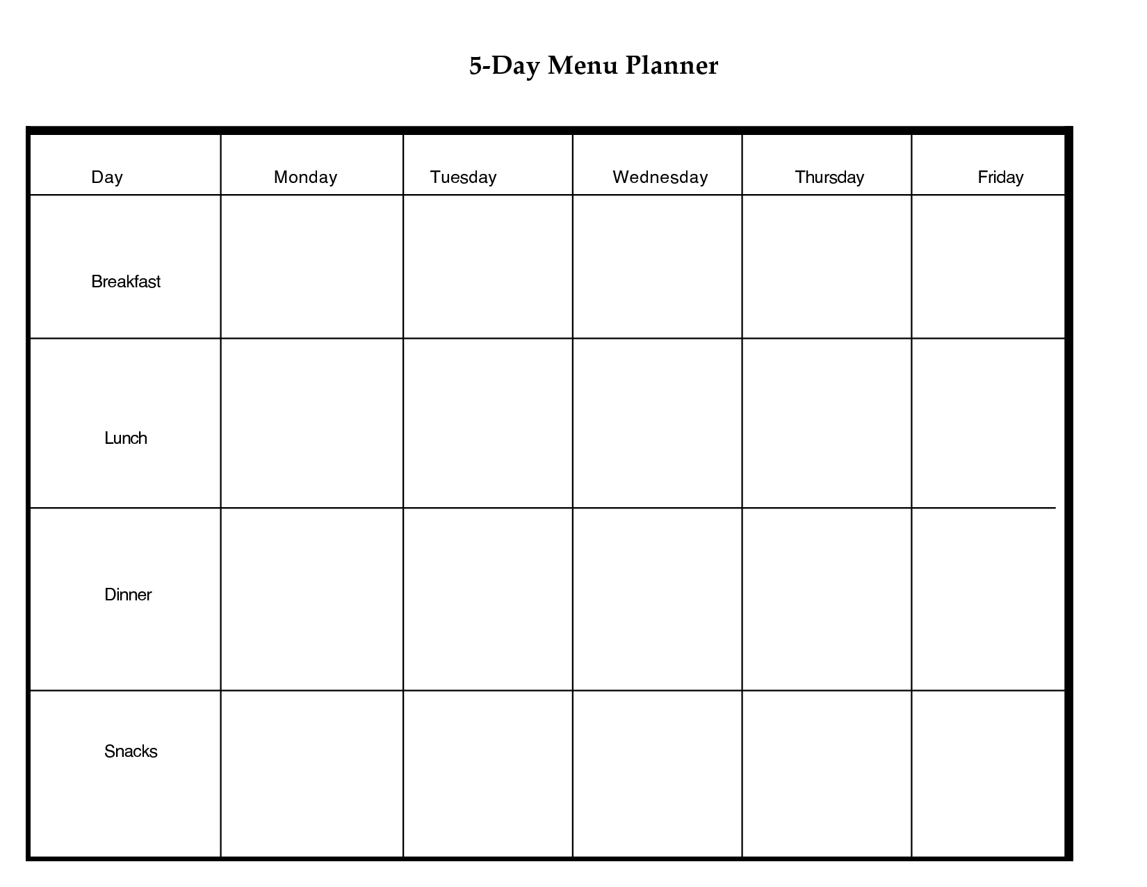 Day Weekly Planner Printable  Scope Of Work Template  Weekly