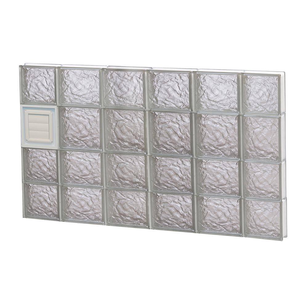 Clearly Secure 42 5 In X 25 In X 3 125 In Frameless Ice Pattern