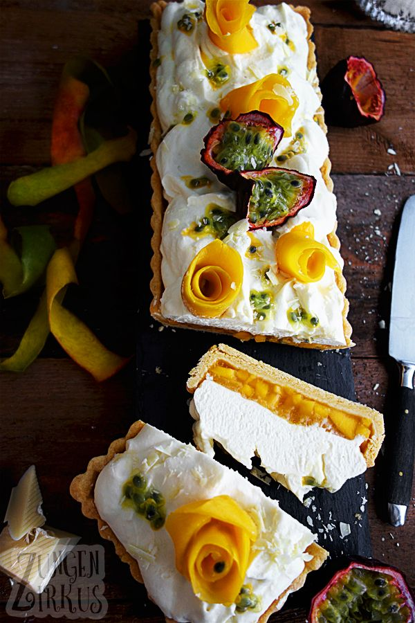 Photo of Mango tart with passion fruit and white chocolate mousse – tongue circus