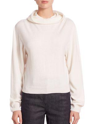 CALVIN KLEIN COLLECTION Cashmere Hooded Sweater. #calvinkleincollection #cloth #sweater