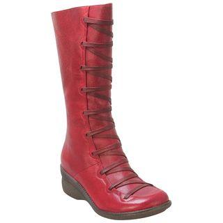 Buy Grey Khaki Black Red Miz Mooz Women's Otis Wedge Boot shoes