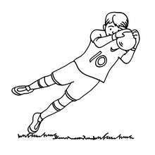 Goal Keeper Stopping The Ball Zeichnung Ausdrucken Ausmalbilder