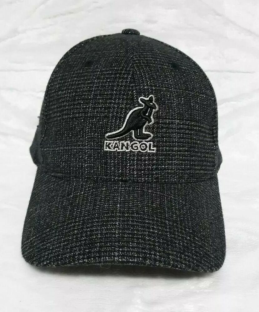 30a5793981975 Kangol Lg-XL Black Houndstooth 5 Panel Flexfit Curved Brim Semi-Structured  Cap  Kangol  BaseballCap  Casual