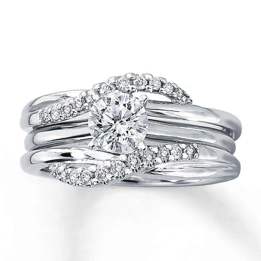 Kay Diamond Enhancer Ring 15 ct tw Roundcut 14K White Gold