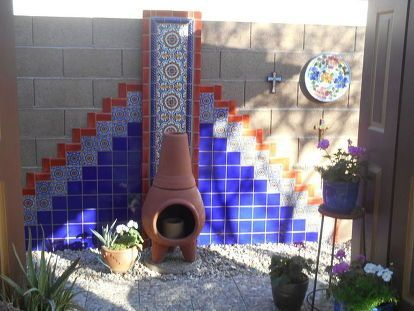 Accent DIY Hand Painted Talavera Tile Wall We did a