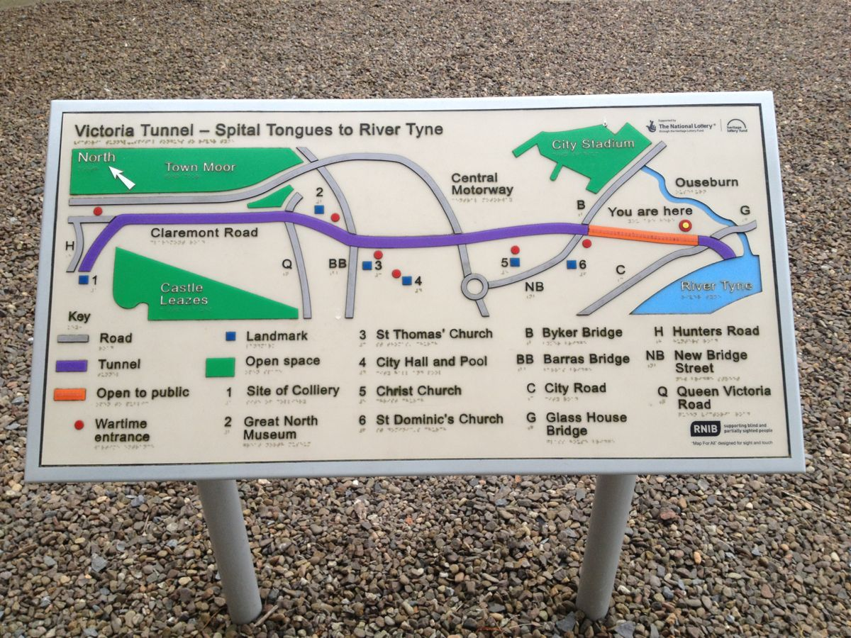 Victoria Tunnel Map See Newcastle Newcastle Upon Tyne Newcastle St Thomas Church