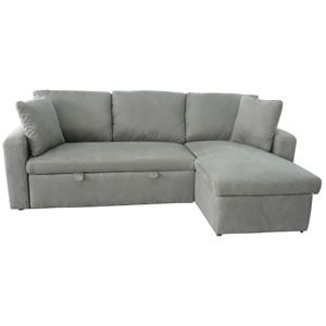 Best Sky Fabric Corner Sofa Bed With Storage In Truffle Total 400 x 300