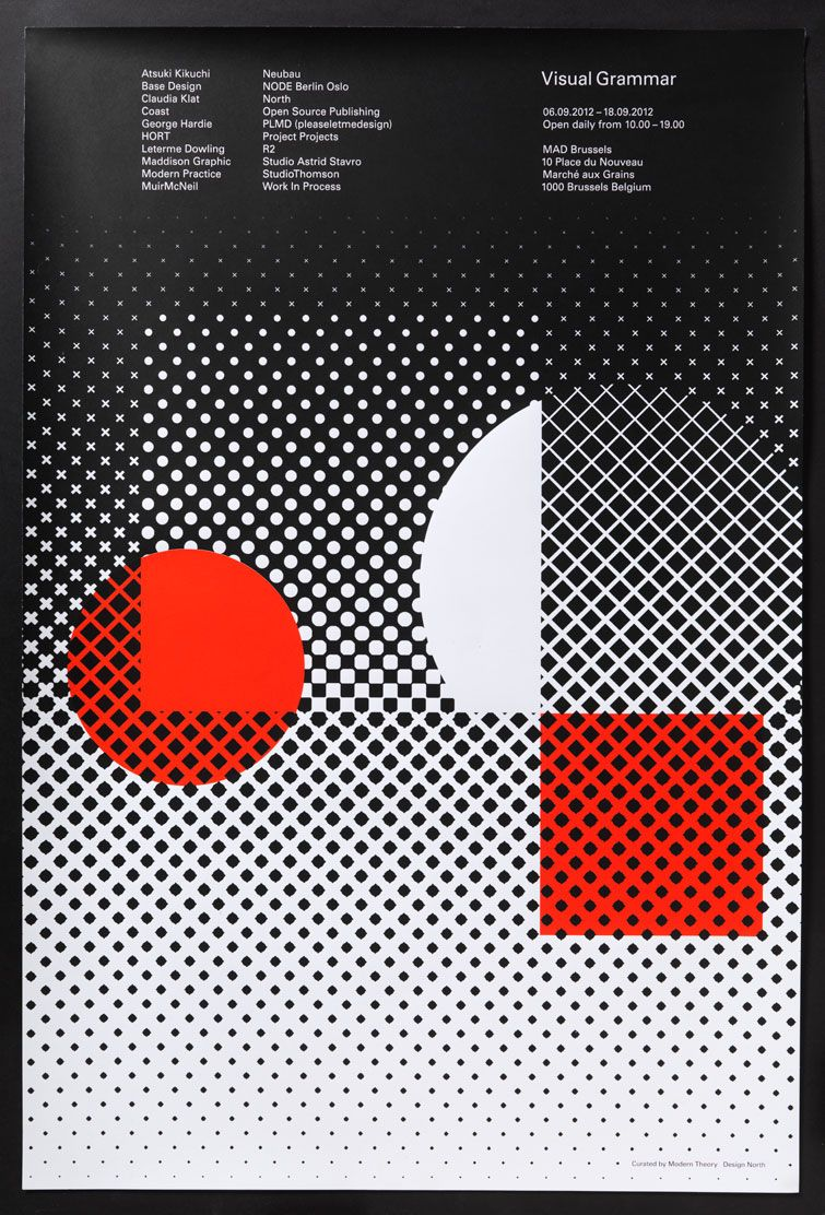 poster design with dots – black and red |  typography / graphic design: North @ modern theory |