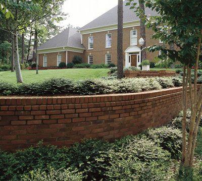 brick retaining wall Retaining walls Pinterest Brick masonry