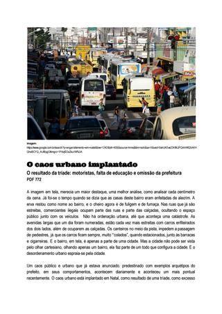 O caos urbano implantado documentos google
