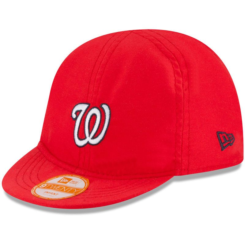Washington Nationals New Era Infant Top Flip Reversible 9TWENTY Stretch Fit  Hat - Red 83fda49f99e8