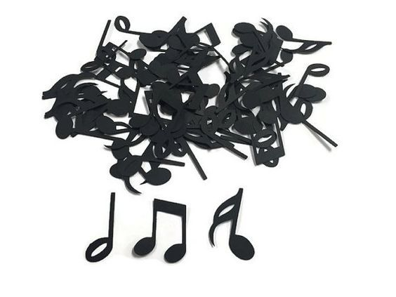 100 Assorted Music Note Confetti, Die Cut, Rockstar Baby Shower, Music theme Party, Rockstar Décor, Rock Star Birthday Party, Music Birthday