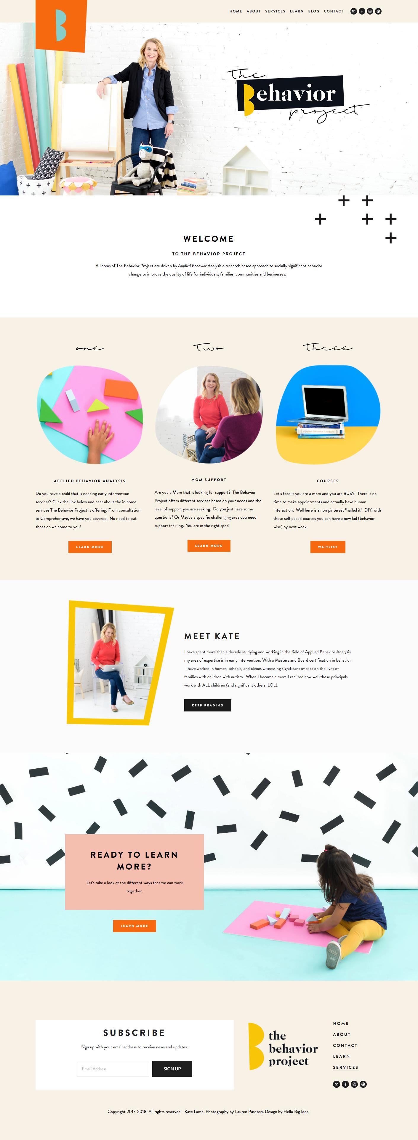 The Behavior Project Fun Website Design Colorful Website Design Web Design