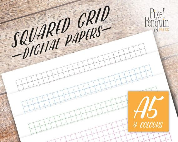 Customize your A5 planner with these multicolor square graph - graph papers