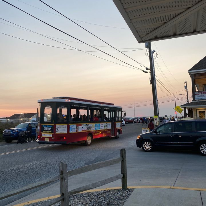 Saw a Visit Cape May MAC Trolley visiting Sunset Beach recently! #SunsetBeach #CapeMayMAC #MAC