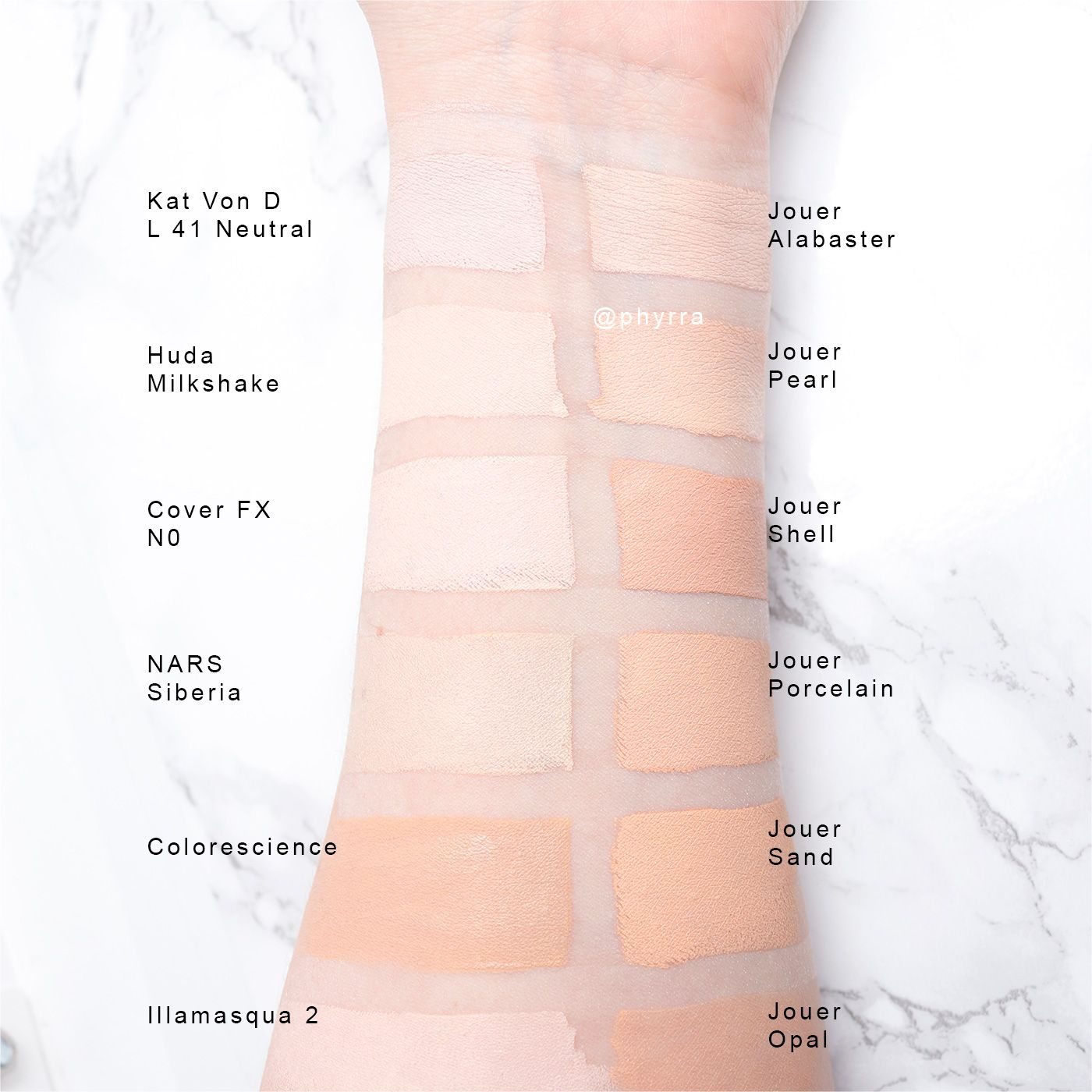 Jouer essential high coverage creme foundation swatches on pale skin also end beauty rh pinterest