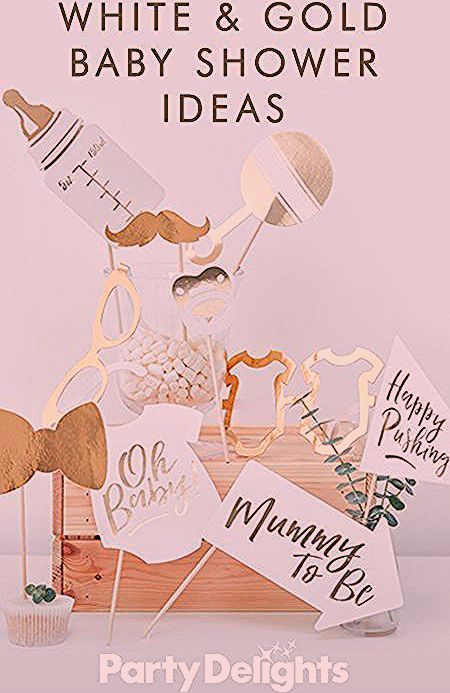 Photo of Weiß & Gold Baby Shower Ideen – Eventplanung