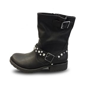 G21 Biker Womens Casual Studded Motorcycle Boot Shoes Walmart