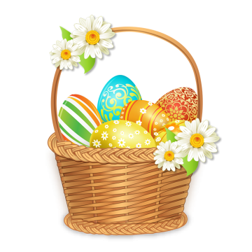 Beautiful Easter Basket With Colorful Eggs Basket Clipart Beautiful Easter Basket Colorful Eggs Png Transparent Clipart Image And Psd File For Free Download Easter Backgrounds Easter Baskets Easter Graphics