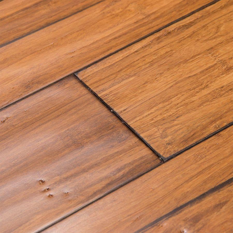 Cali Bamboo Fossilized 5 In Distressed Mocha Bamboo Hardwood