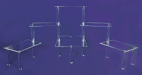 High Quality LARGE Display Step Risers, Trade Show Display Risers, Plastic Trade Show  Display Risers,