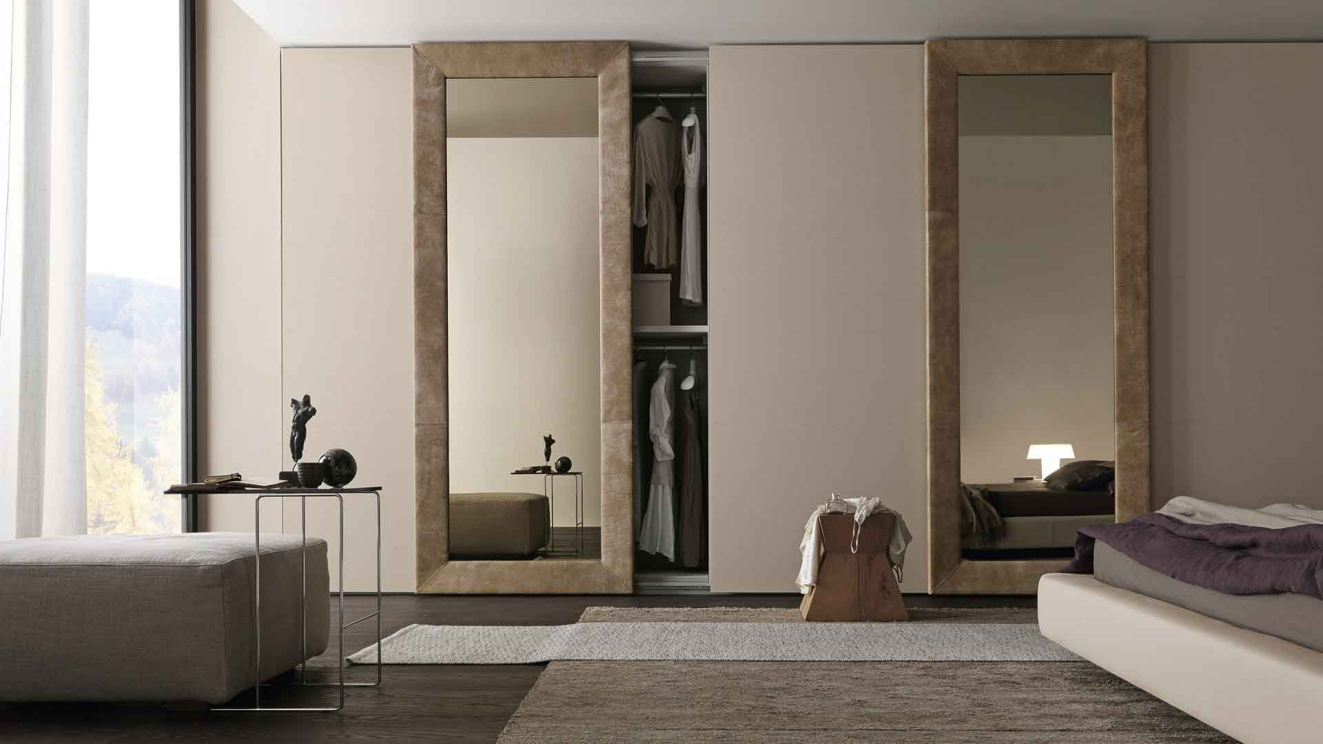 Fair Sliding Door as Modern Wardrobe Stunning Mirrored Sliding