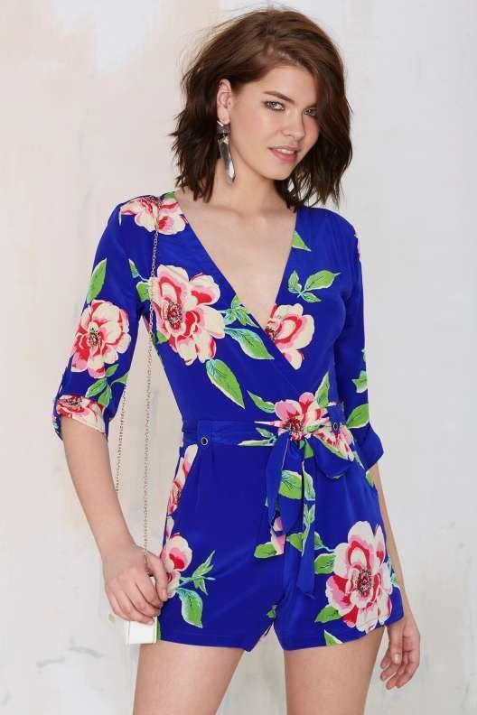 5421dd74b53 Yumi Kim Liz Floral Romper - Blue - Rompers + Jumpsuits