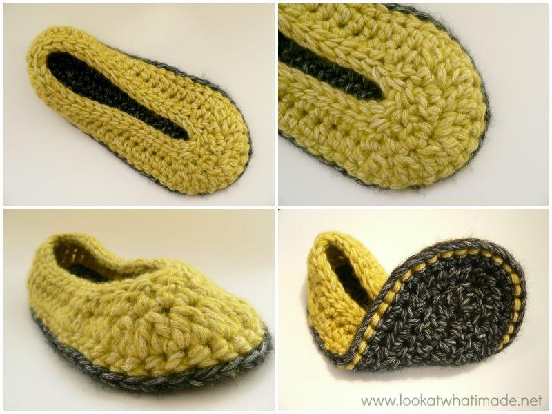 Chunky Crochet Slippers Pattern | CROCHET SLIPPERS | Pinterest ...
