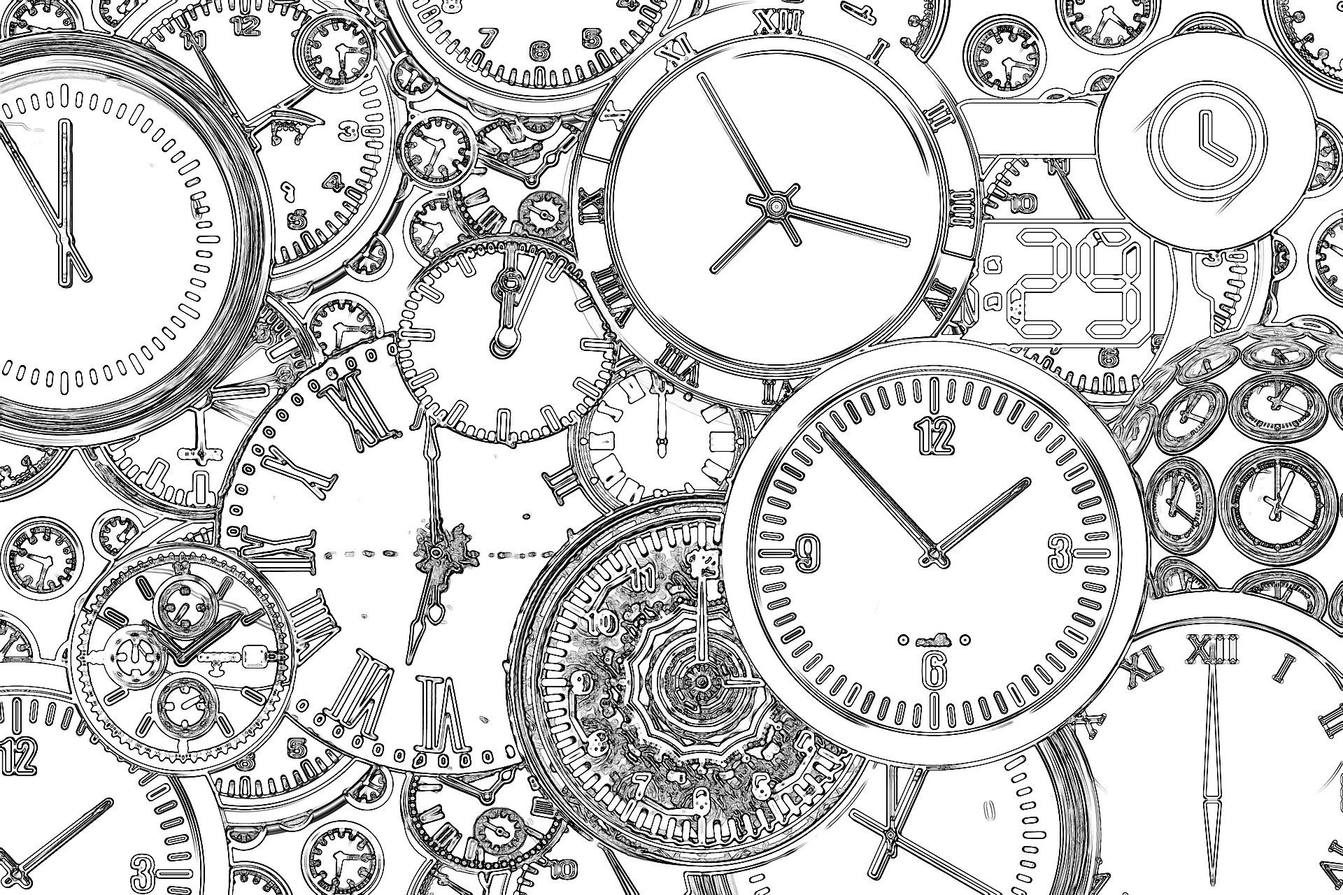 Free Printable Steampunk Clocks Coloring Page | where are my crayons ...