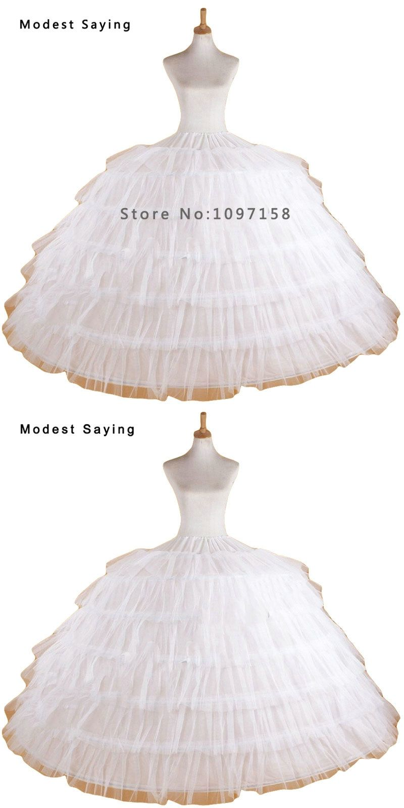 Luxury Puffy 6 Hoops Petticoat Underskirt For Big Ball Gown Wedding ...